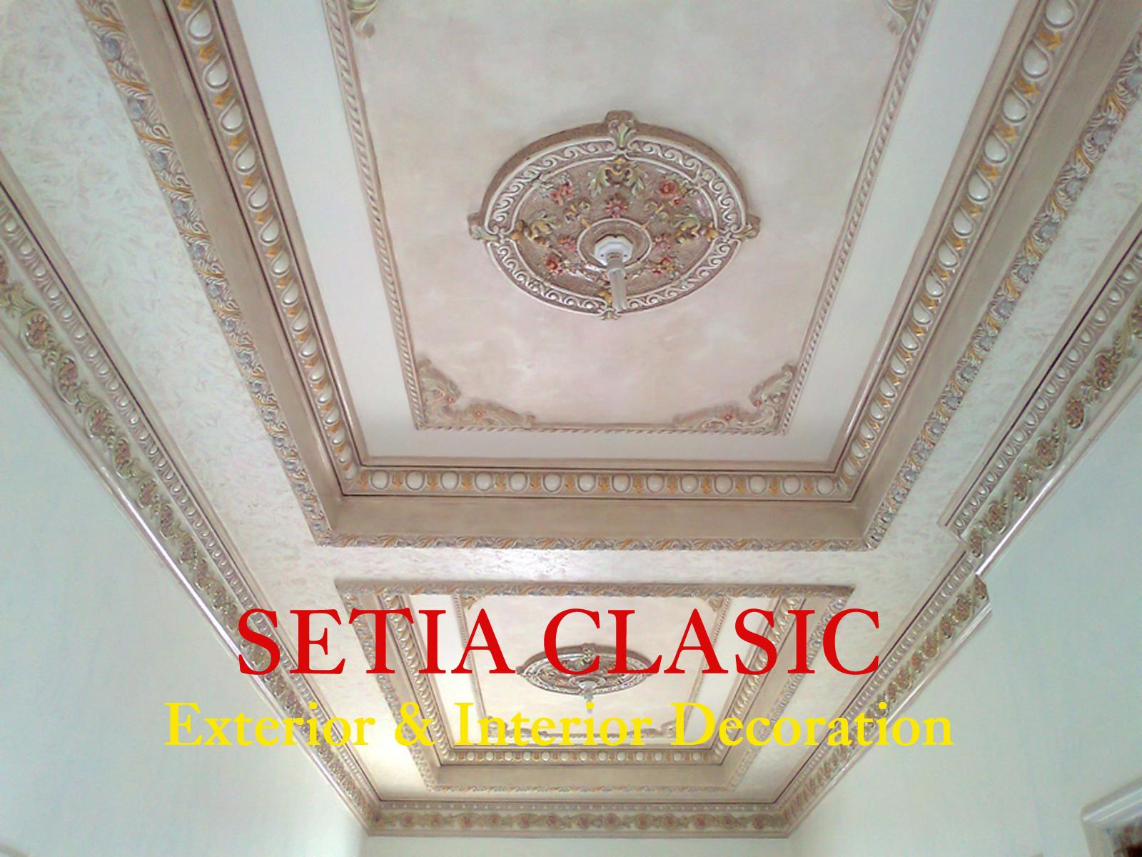 desain plafon gypsum klasik yang artistik 2 foto setia