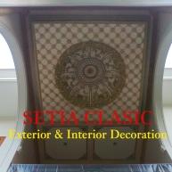 Plafon Classic Spesial Dome Ukir