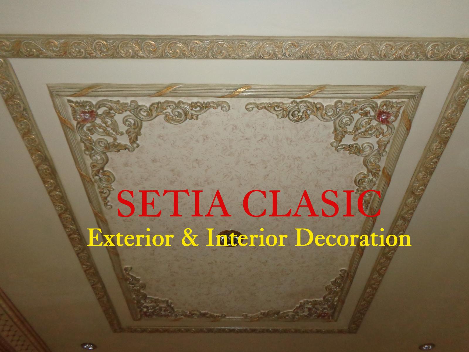 Plafon Gypsum Klasik Sederhana Foto Setia Clasic
