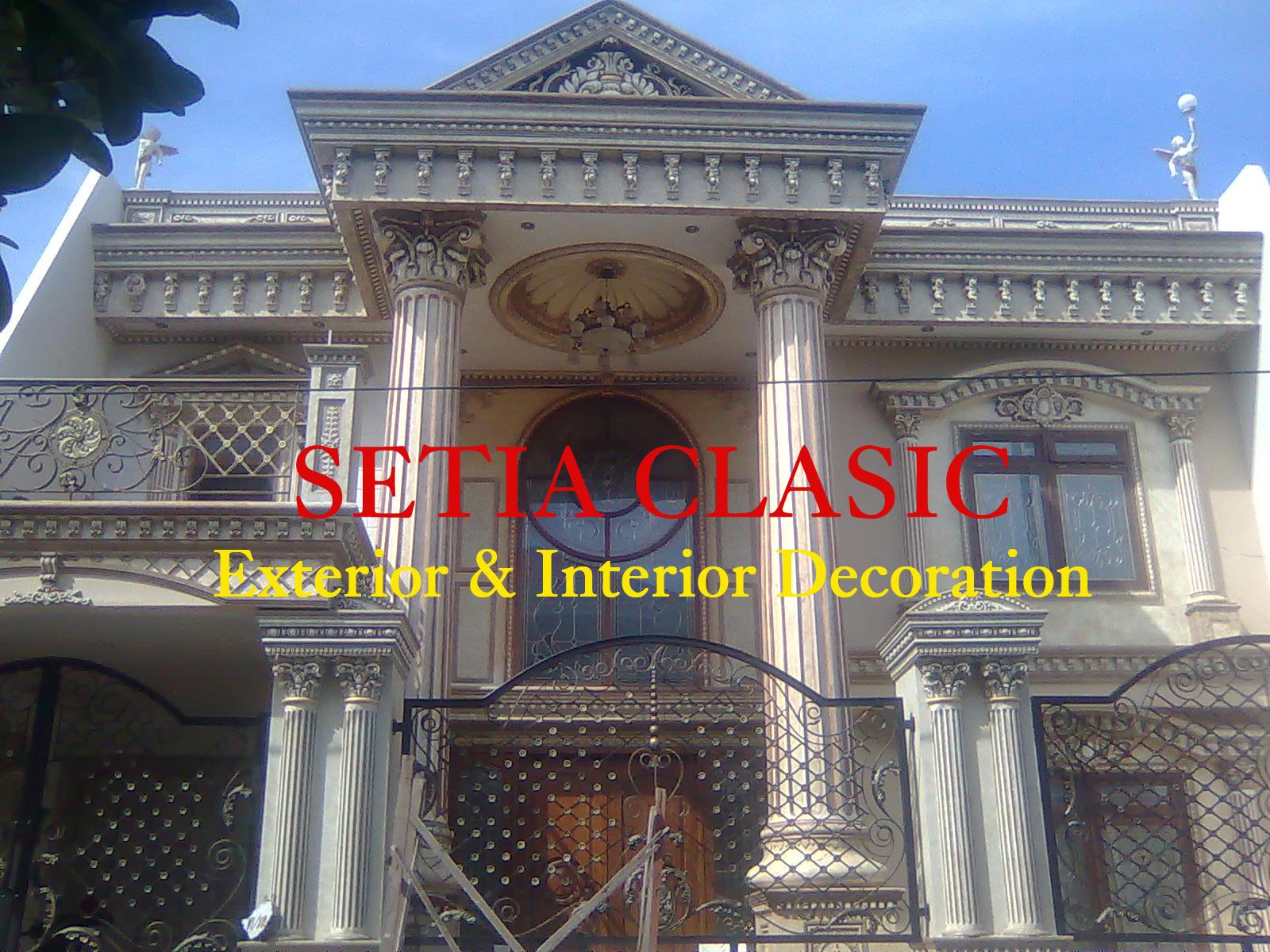 desain bangunan rumah tinggal klasik setia clasic
